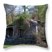 Shack In The Wood Throw Pillow