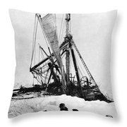 Shackletons Endurance Throw Pillow