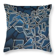 Shadderd Space Throw Pillow