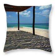 Shade By The Beach Throw Pillow