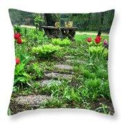 Shade Garden 2  Throw Pillow