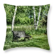 Shaded Bench Throw Pillow
