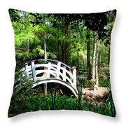 Shaded Green Throw Pillow