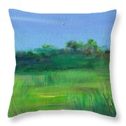Shaded Meadow Throw Pillow