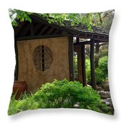Shaded Oasis Throw Pillow