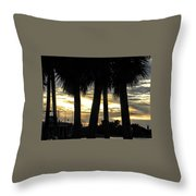 Shaded Palms Throw Pillow