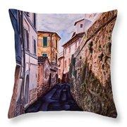 Shaded Street Throw Pillow