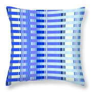 Shades Of Blue Highrise Throw Pillow