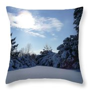 Shades Of Blue In Winter Throw Pillow