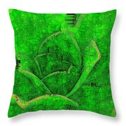 Shades Of Green Stained Glass Throw Pillow