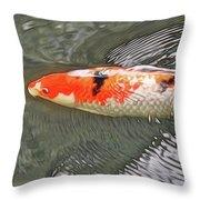 Shades Of Koi Throw Pillow