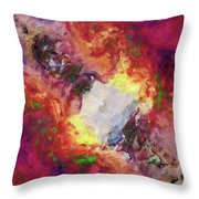 Shades Of Red Abstract Throw Pillow