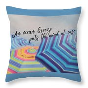 Shades Of Summer Quote Throw Pillow