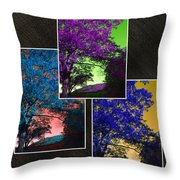 Shades Of The Blue Ridge Throw Pillow