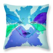 Shades Of The Butterfly Throw Pillow