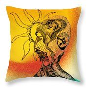 Shades Of The Seventies Throw Pillow