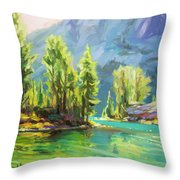 Shades Of Turquoise Throw Pillow