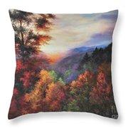 Shades Of Twilight Throw Pillow