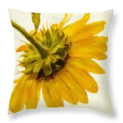 Shades Of Yellows Throw Pillow