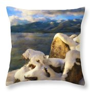 Shadow And Snow Throw Pillow