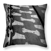 Shadow Chain Throw Pillow