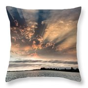 Shadow Cloud Over Humboldt Bay Throw Pillow
