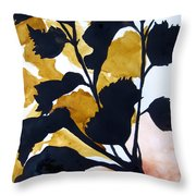Shadow Hibiscus Throw Pillow