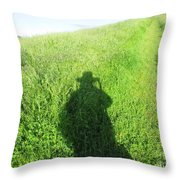 Shadow In The Grass Throw Pillow