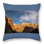 Shadow Mountain Zion National Park Utah Throw Pillow