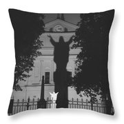 Shadow Of Jesus Throw Pillow