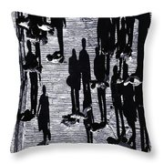 Shadow Of Peoples Throw Pillow
