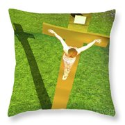 Shadow Of The Christ Throw Pillow