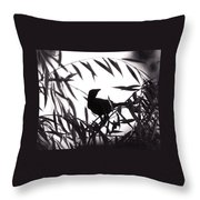 Shadow Of The Crow Throw Pillow