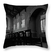 Shadow Of The Empty Chairs Throw Pillow