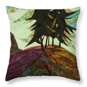 Shadow Of The Evening Throw Pillow