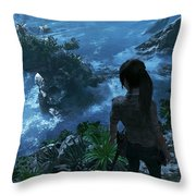 Shadow Of The Tomb Raider Throw Pillow