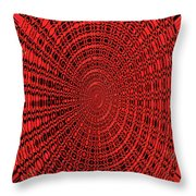Shadow On The Path Abstract #2 Throw Pillow