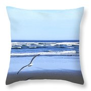 Shadow On The Sand Throw Pillow