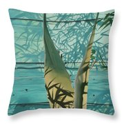 Shadowed Agave Throw Pillow