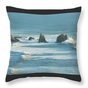 Shadowed Waves Throw Pillow