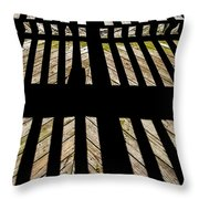 Shadows And Lines - Semi Abstract Throw Pillow