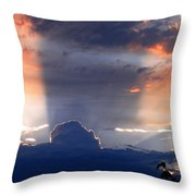 Shadows In The Sky Throw Pillow