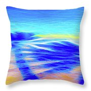 Shadows In The Surf Throw Pillow