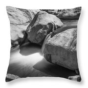 Shadows Of A Creek In Black And White Throw Pillow