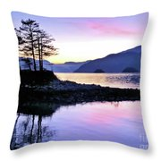 Shadows Of Furry Creek Throw Pillow