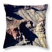 Shadows Of Grand Canyon Throw Pillow