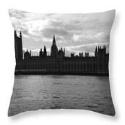 Shadows Of Parliament Throw Pillow