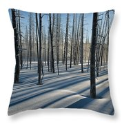 Shadows Of The Forest Throw Pillow