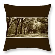 Shadows Of The South Throw Pillow