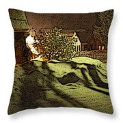 Shadows Of Winters Night Throw Pillow